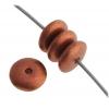 Glass Bead 6mm Round Flat Spacer Metallic Copper